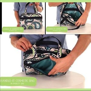 New Thirty One paisley bag cosmetic travel baby
